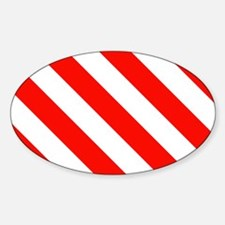 Candy Cane Stripes Holiday Pattern Decal