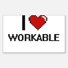 I love Workable digital design Decal