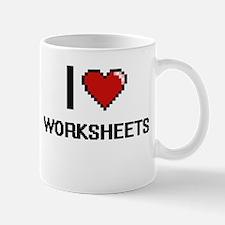 I love Worksheets digital design Mugs