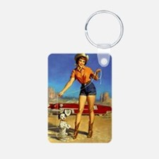 Pin Up: Cowgirl ! Keychains