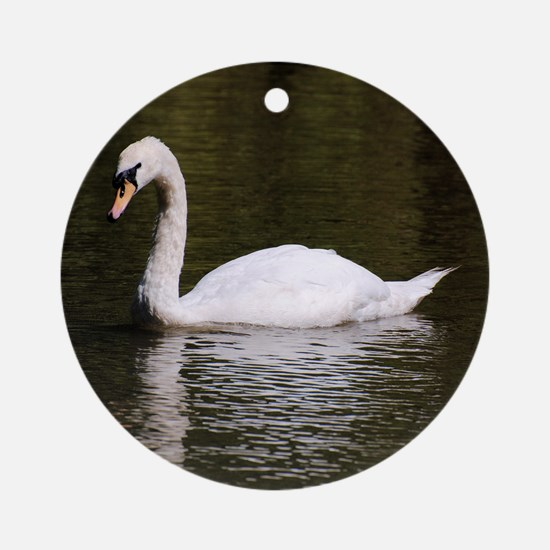 White Swan Porcelain Ornament