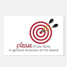 Throw Darts Postcards (Package of 8)