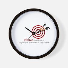 Throw Darts Wall Clock