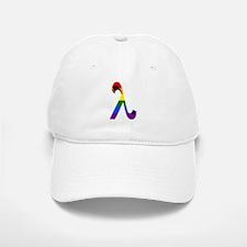 3D Rainbow Lambda Baseball Baseball Cap