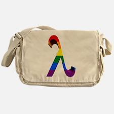 3D Rainbow Lambda Messenger Bag