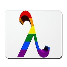 3D Rainbow Lambda Mousepad