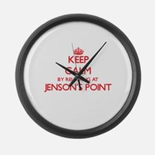 Keep calm by relaxing at Jenson'S Large Wall Clock