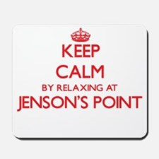 Keep calm by relaxing at Jenson'S Point Mousepad