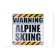 Warning: Alpine Skiing Postcards (Package of 8)