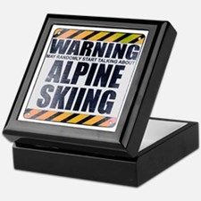 Warning: Alpine Skiing Keepsake Box