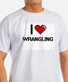 I love Wrangling digital design T-Shirt