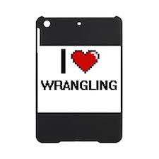 I love Wrangling digital design iPad Mini Case