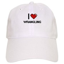 I love Wrangling digital design Baseball Cap