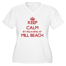 Keep calm by relaxing at Mill Be Plus Size T-Shirt