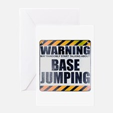 Warning: Base Jumping Greeting Card