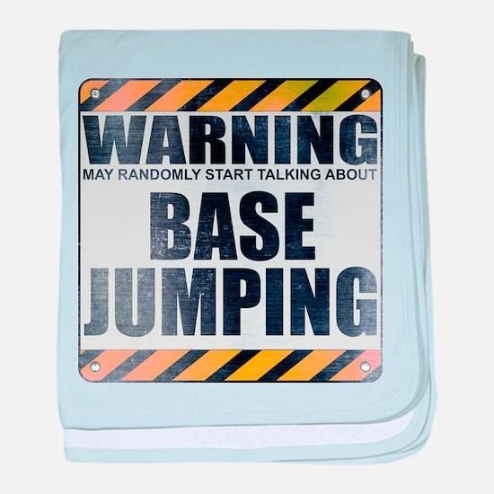 Warning: Base Jumping Infant Blanket