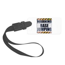 Warning: Base Jumping Luggage Tag