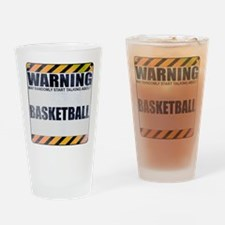 Warning: Basketball Drinking Glass