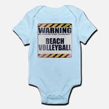 Warning: Beach Volleyball Infant Bodysuit