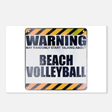 Warning: Beach Volleyball Postcards (Package of 8)