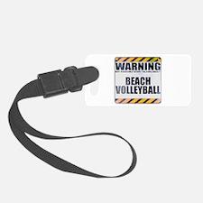 Warning: Beach Volleyball Luggage Tag