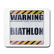 Warning: Biathlon Mousepad