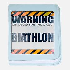 Warning: Biathlon Infant Blanket