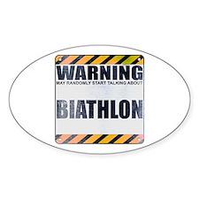 Warning: Biathlon Oval Decal