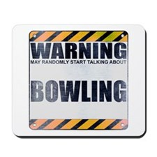 Warning: Bowling Mousepad