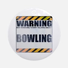 Warning: Bowling Round Ornament