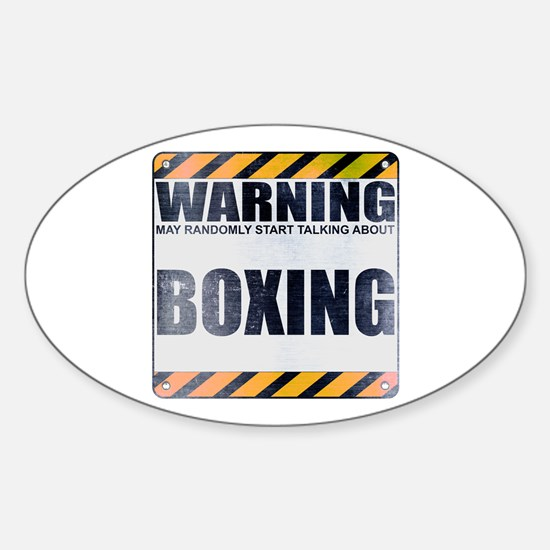 Warning: Boxing Oval Decal