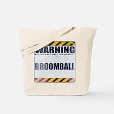 Warning: Broomball Tote Bag