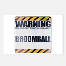 Warning: Broomball Postcards (Package of 8)