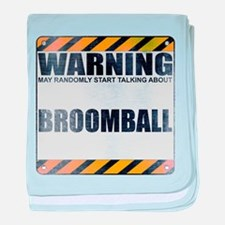 Warning: Broomball Infant Blanket