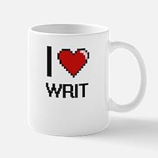 I love Writ digital design Mugs