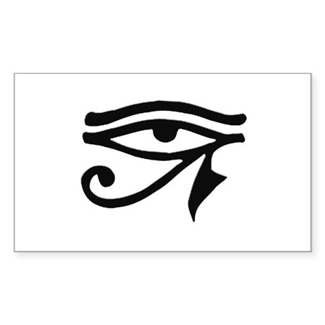 eye of horus Rectangle Sticker