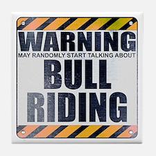Warning: Bull Riding Tile Coaster