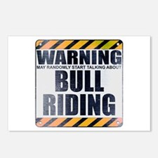 Warning: Bull Riding Postcards (Package of 8)