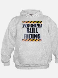 Warning: Bull Riding Kid's Hoodie