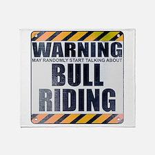 Warning: Bull Riding Stadium Blanket