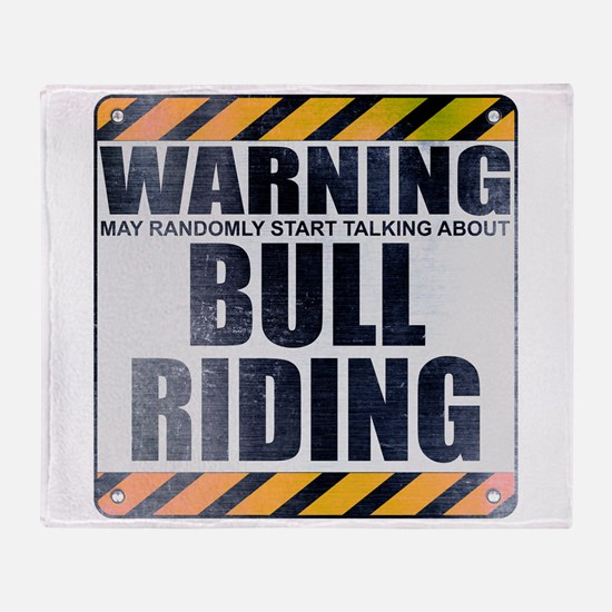 Warning: Bull Riding Stadium Blanket