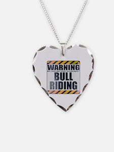 Warning: Bull Riding Necklace