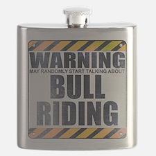 Warning: Bull Riding Flask