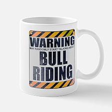 Warning: Bull Riding Mug