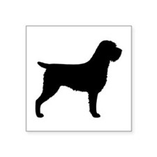 """Wirehaired Pointing Griffon Square Sticker 3"""" x 3"""""""