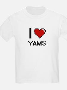 I love Yams digital design T-Shirt