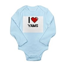 I love Yams digital design Body Suit