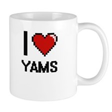 I love Yams digital design Mugs