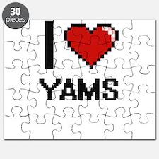 I love Yams digital design Puzzle