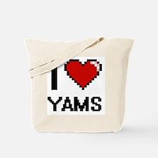 I love Yams digital design Tote Bag